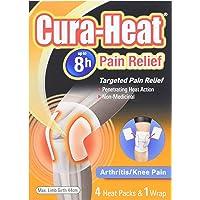 Cura Heat Arthritis Pain Knee - 4-Pack & 1 Wrap
