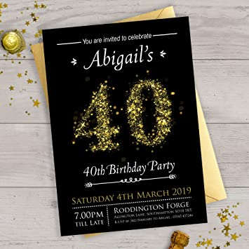 40th Personalised Birthday Invitations Or Any Age 18th 21st 30th 50th 60th 70th