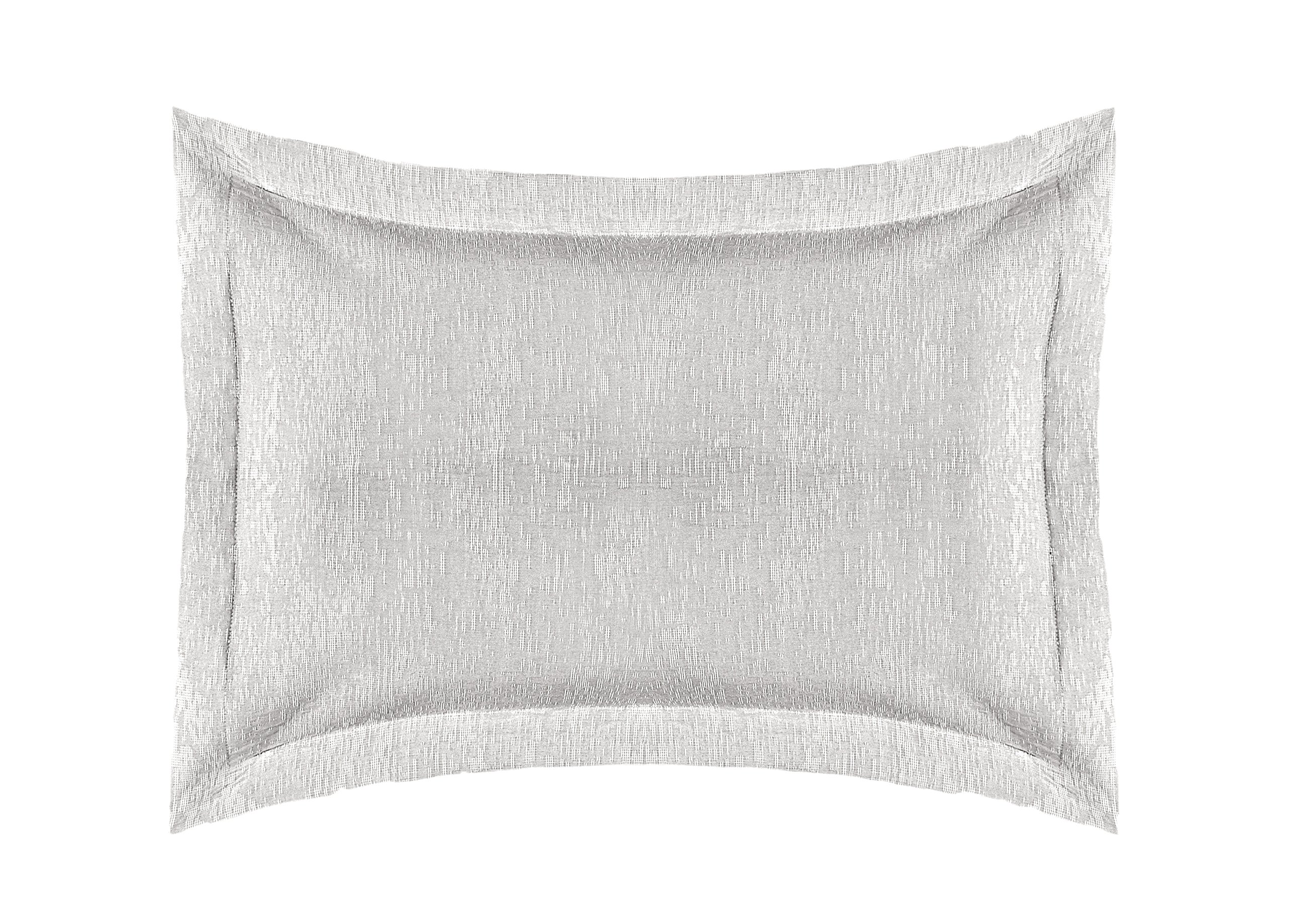 Europa Fine Linens Ikat Matelasse Bedding, King Sham Size 20-Inch by 36-Inch, Dove