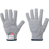 5 grade breathable food grade anti-cut work gloves for hand protection, for cutting meat, wood carving, slicing, artificial grass installation, dragging heavy objects,