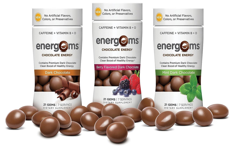 Amazon.com: Energems Energy Boost Gems, 3 Bottle Pack (63 Gems ...