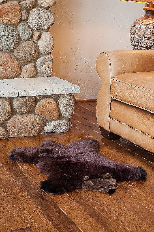 Overland Teddy Bear Australian Sheepskin Rug 803361_SZBRWN