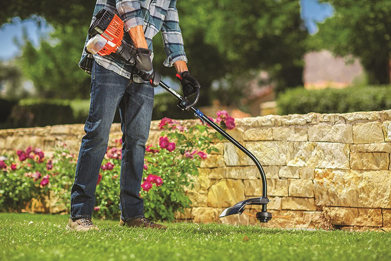 Remington Rm2510 Rustler 25cc 2 Cycle 16 Inch Curved Weed Eater Diagram And Parts List For Weedeater Grasslinetrimmer Shaft Gas Trimmer Garden Outdoor