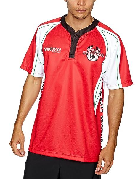 Samurai Replica - Sudadera de deporte y rugby para hombre, tamaño S, color rojo: Amazon.es: Deportes y aire libre