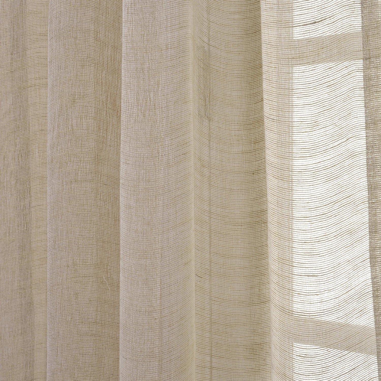 Amazon.com: Half Price Drapes SHLNCH-J0106-108 Linen Sheer Curtain ... for Sheer Curtains Texture  34eri