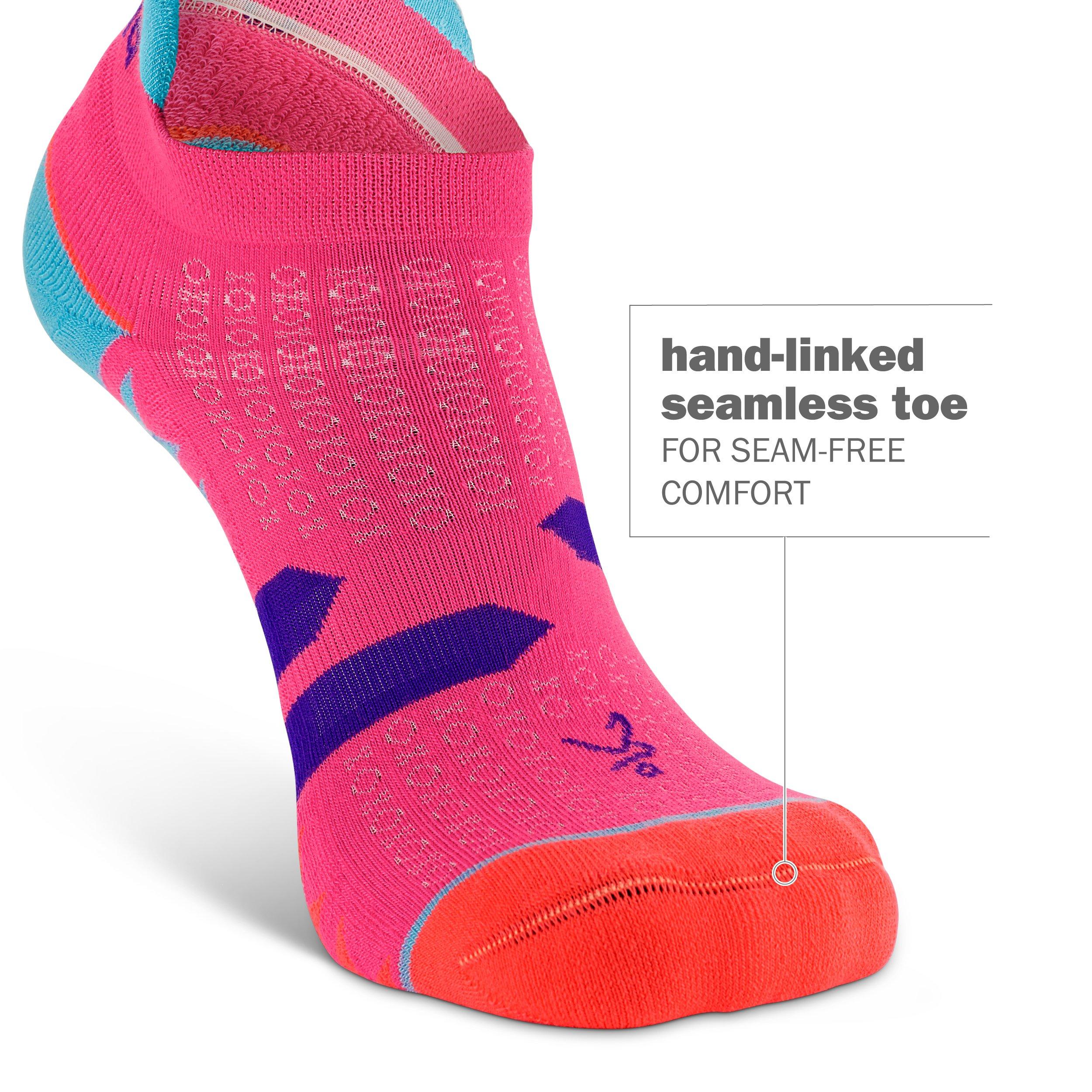 Balega Women's Enduro No Show Socks (1 Pair), Watermelon/Orange, Medium by Balega (Image #2)