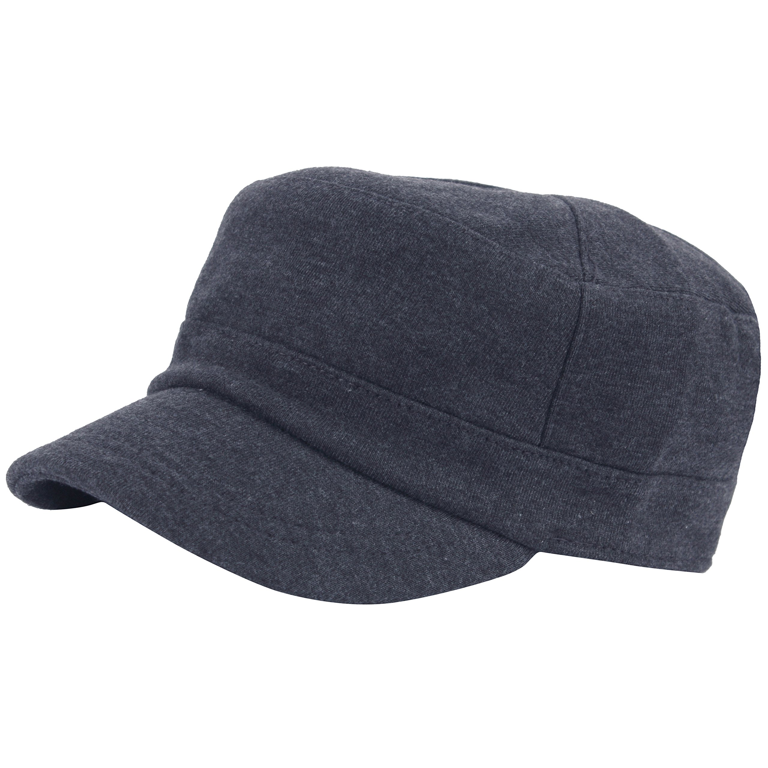 RaOn A206 New Comfortable Thick Cotton Short Bill Army Cap Golf Club Cadet Military (Darkgray)