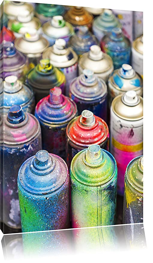 Graffiti Colorati Bottiglie Di Inchiostro Arte Astratta Tela