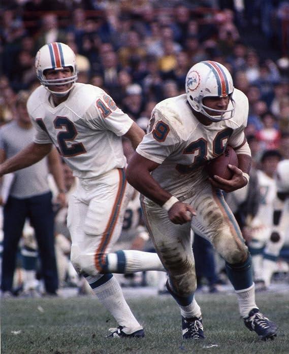 Miami Dolphins Larry Csonka Bob Griese Super Bowl VII /& VIII Helmet Framed Picture