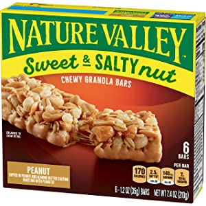 Nature Valley Granola Bars, Sweet and Salty Nut, Peanut, 6 ct, 7.4 oz