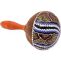 Maracas - Coco, artesanal, madera Carnaval, instrumento percussion pintado