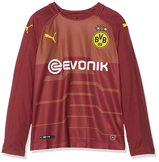 Puma Kinder BVB Ls Gk Shirt Replica with Evonik Without Opel Logo Trikot