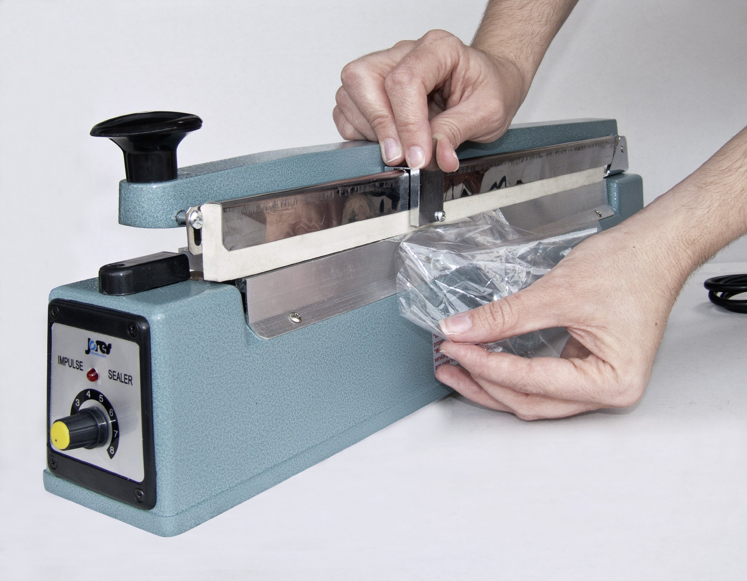 Impulse Manual Bag Sealer Heat Seal Closer (16 Inch with cutter, 110 Volt)