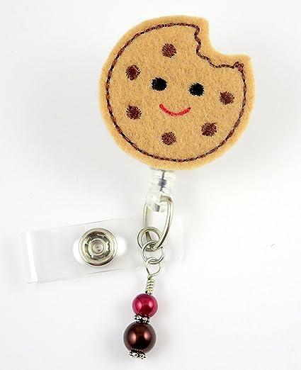 Chocolate Chip Cookie - Nurse Badge Reel - Retractable ID Badge Holder -  Nurse Badge - Badge Clip - Badge Reels - Pediatric - RN - Name Badge Holder