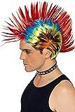 Smiffys 42285 Déguisement Homme Perruque Punk de Rue des Années 80, Multicolore, Taille Unique