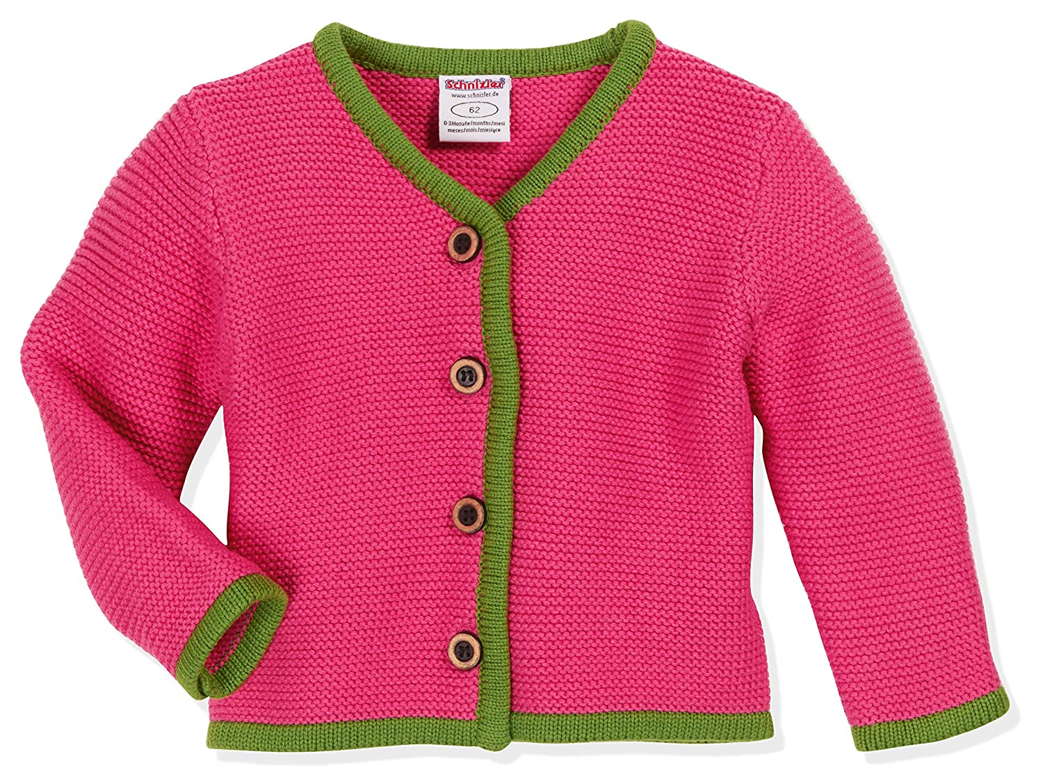 Schnizler Baby Girls Strickjanker Pink Cardigan