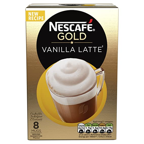 Nescaf? Cafe Menu Vanilla Flavour 8 Sachets 148 g (Pack of 6, Total