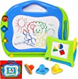 JOYIN 2 Magnetic Drawing Boards with Multi-Colours Scribble Erasable Doodle Sketch Magna Pad for Writing, Sketching, Travel Size Writing Pad, Educational Learning and Classroom Prizes