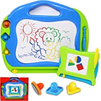 JOYIN 2 Magnetic Drawing Boards with Multi-Colours Scribble Erasable Doodle Sketch Magna Pad for Writing, Sketching…