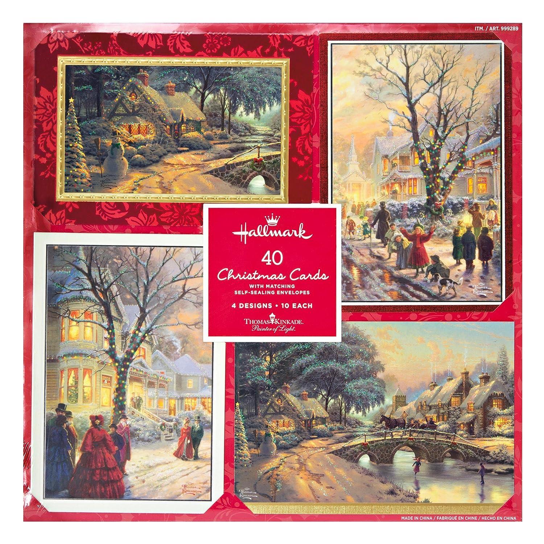 Amazon.com : Hallmark Christmas Cards with Envelopes ~ 4 Design ~ 40 ...
