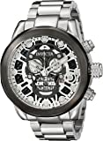 Invicta Corduba Men's Quartz Watch with Multicolour Dial  Chronograph display on Silver Stainless Steel Bracelet 18866