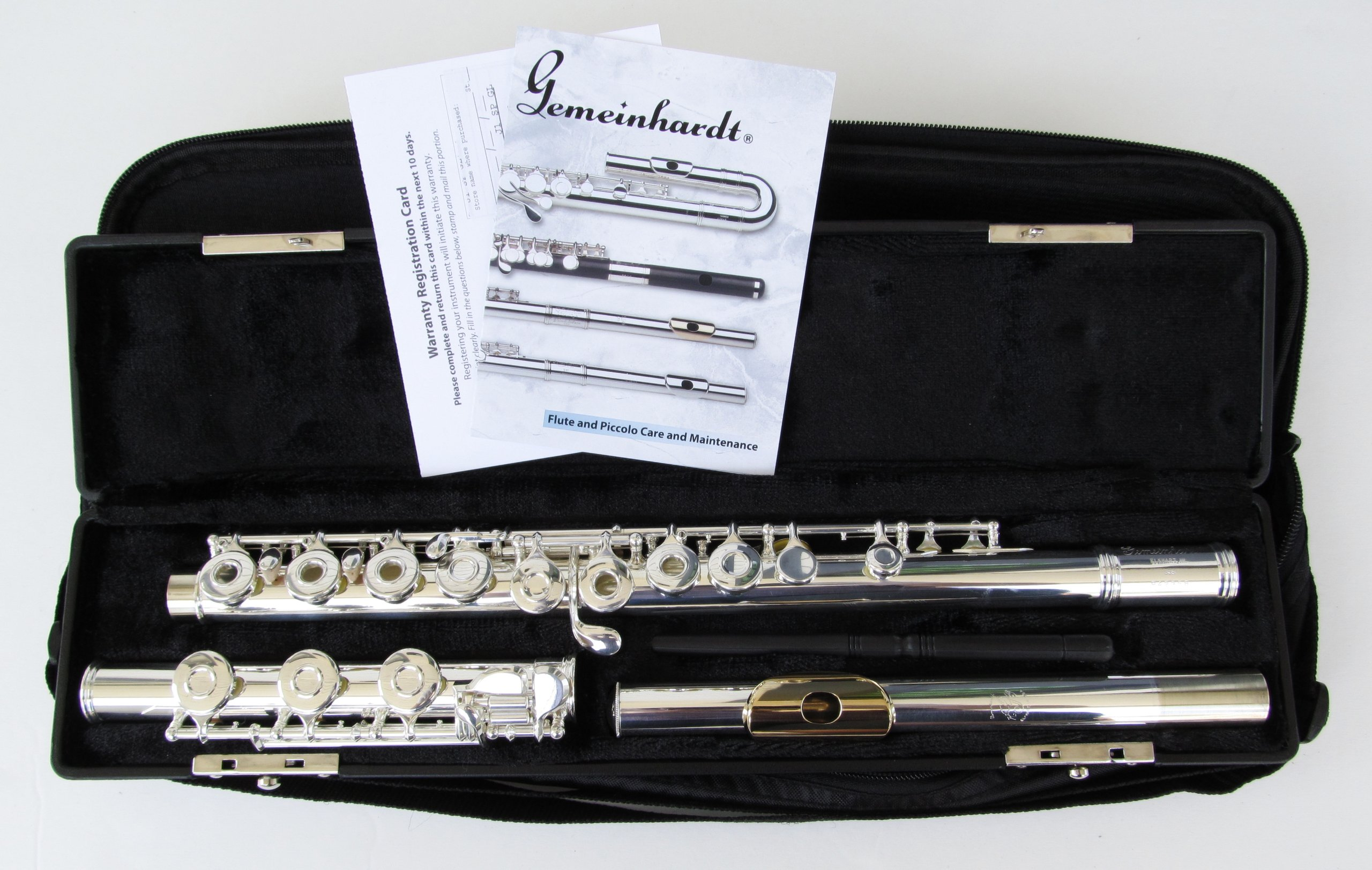 Gemeinhardt 3OBGLP Offset Flute with Gold Lip Plate