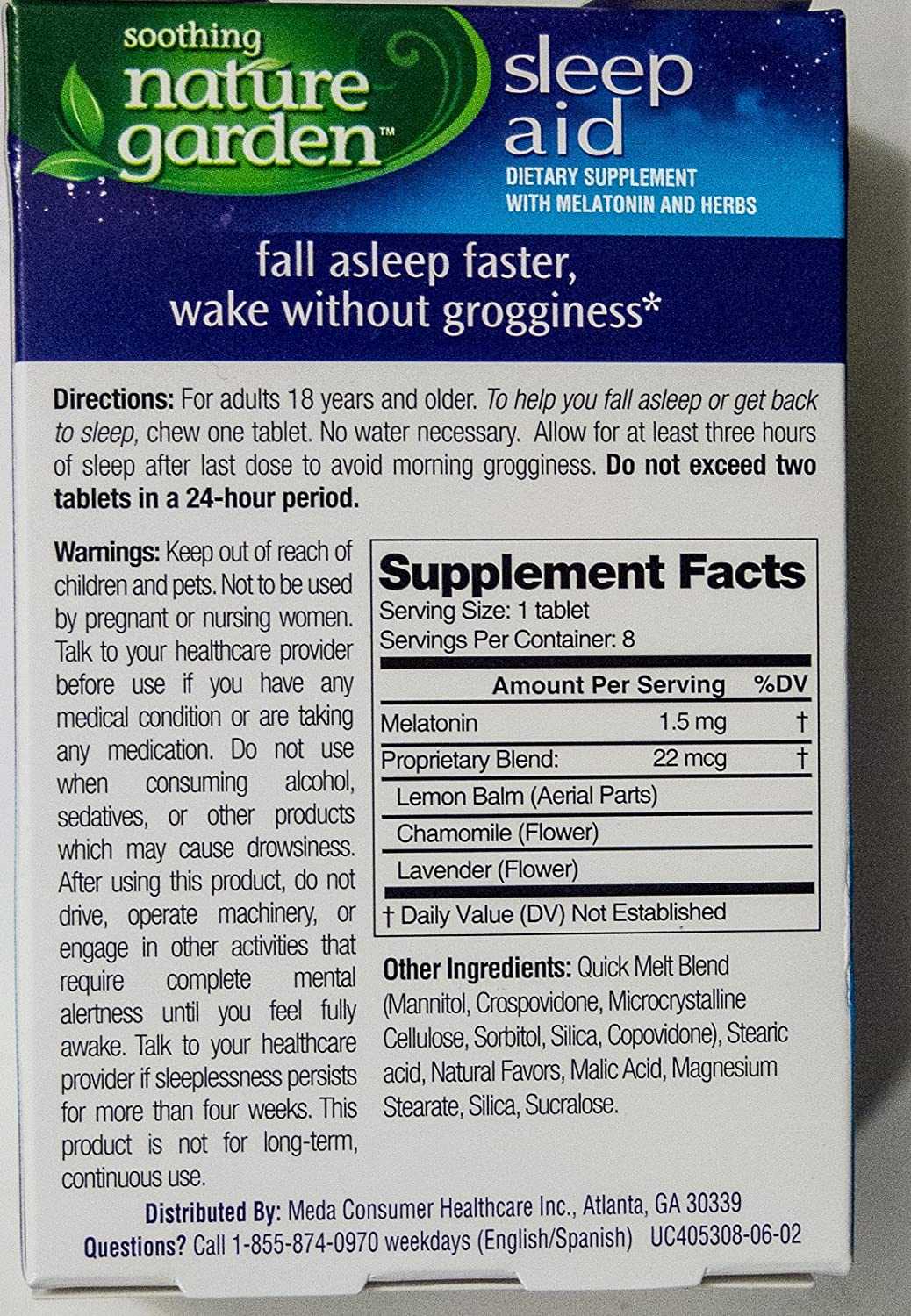 Amazon.com: Soothing Nature Garden Sleep Aid Remedy (4 Boxes - Total 32 Cherry tablets): Health & Personal Care
