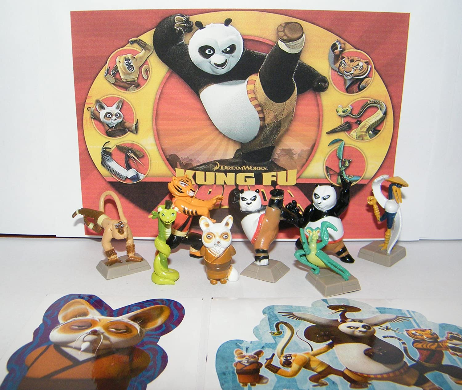 Buy Kung Fu Panda Mini Toy Figure Playset Of 8 With Po Master Shifu Tigress The Furious Five And Bonus Sticker Online At Low Prices In India Amazon In
