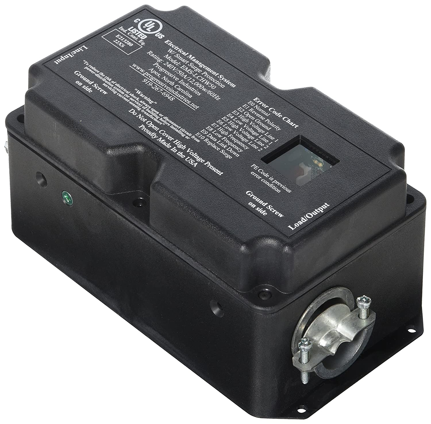 PROGRESSIVE INDUSTRIES SSP-50XL Surge Protector with Cover 50 Amp