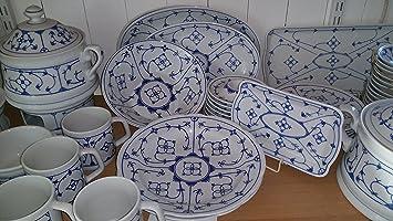 Winterling indisch blau tiefer Teller mit Fasson: Amazon.de ...