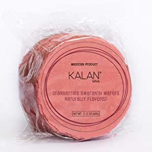 Kalan Obleas Mexican Snack - Healthy Snacks - Vegan Amaranth Flour Wafers No Sugar Added (Cranberries, 6 pack)