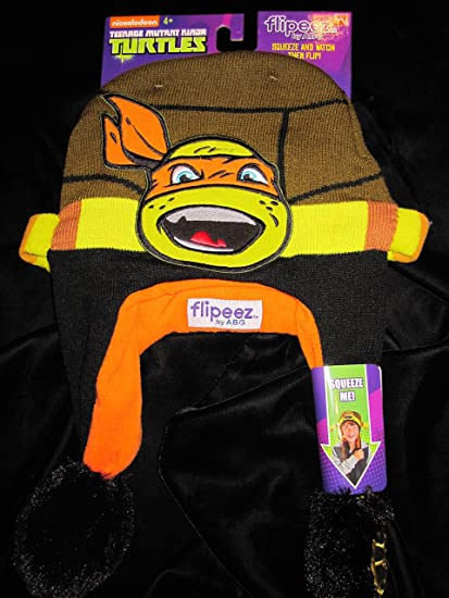 Amazon.com  Flipeez Turtle TMNT Action Hat  Clothing 19ea93b7bdbb