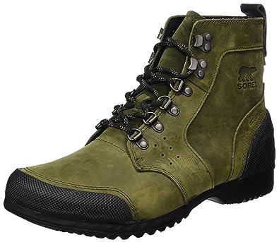 SOREL Men's Ankeny Mid Hiker Hiking Boot, Nori, Black, ...