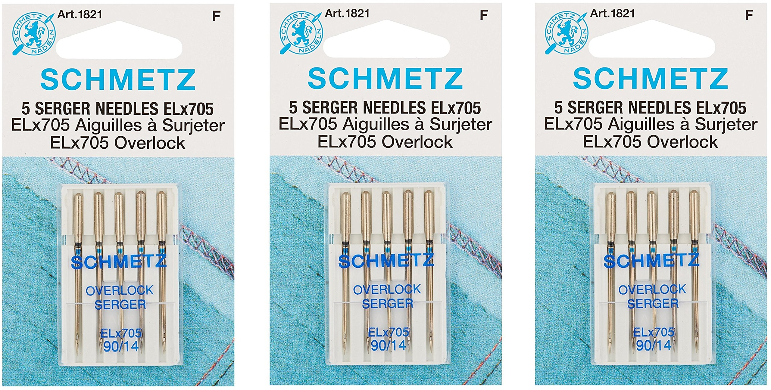 ELX705 Serger Needles -Size 14/90 5/Pkg (3 Pack) by Euro-Notions