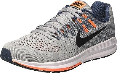 Nike Air Zoom Structure 20, Zapatos para Correr para Hombre, Gris (Wolf Grey/Black/Squadron Blue/Tart), 38.5 EU: Amazon.es: Zapatos y complementos
