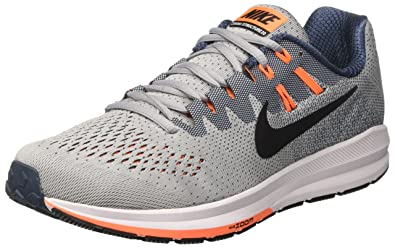 Nike Men's Air Zoom Structure 20 Running Shoe WOLF GREY/BLACK-SQUADRON BLUE-