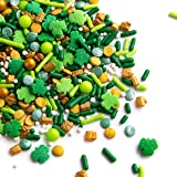 Sweets Indeed Sprinklefetti - St. Patricks Day Sprinkle Mix - Sprinkles for Baking - Shamrocks, Clovers - 6.5 ounce