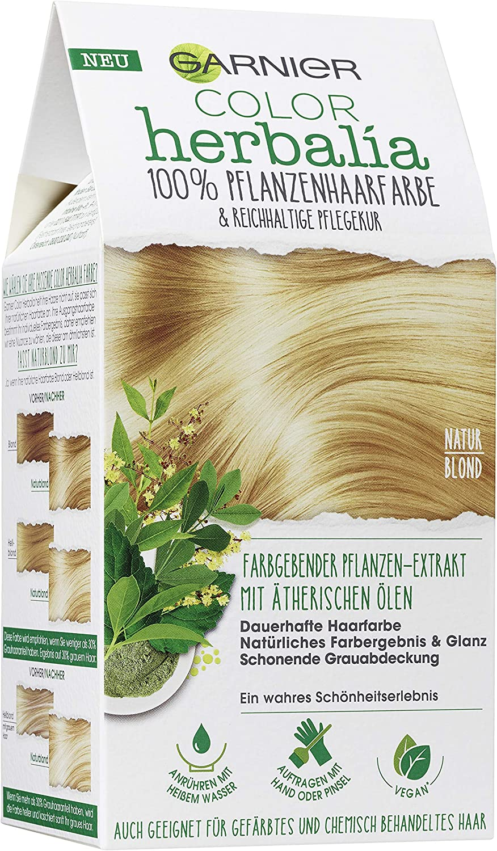 Garnier Color Herbalia - Tinte para el cabello rubio natural con henna y aceites esenciales, vegano (1 unidad)