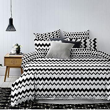 Decoking 84496 135x200 Cm Mit Kissenbezug 80x80 Schwarz Weiß