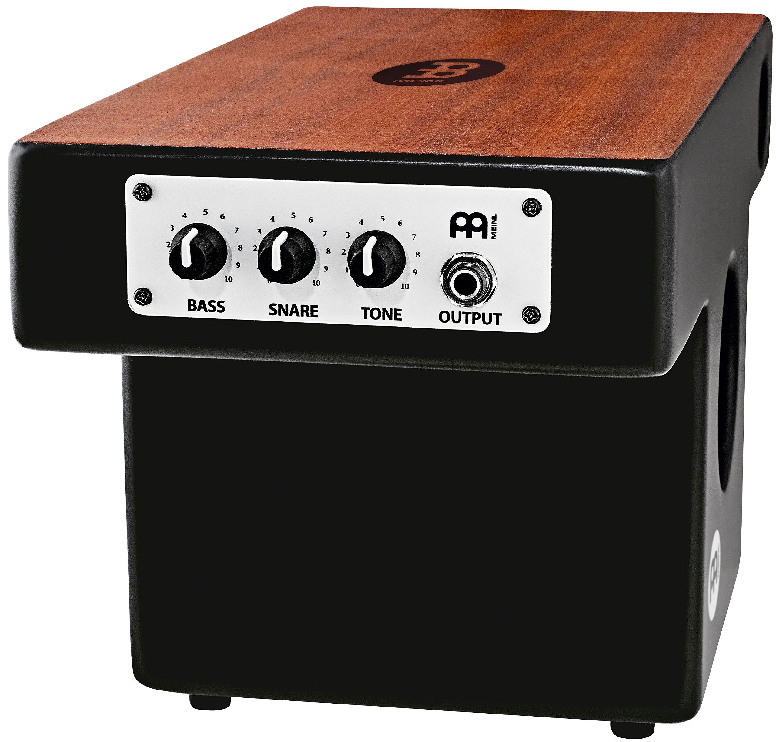 Meinl Pickup Slaptop Cajon Box Drum with Internal Snares and Forward Projecting Sound Ports - NOT MADE IN CHINA - Mahogany Playing Surface, 2-YEAR WARRANTY (PTOPCAJ4MH-M) by Meinl Percussion (Image #2)