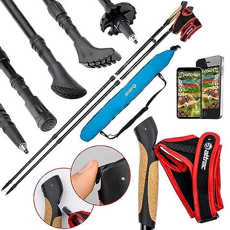Asphalt Pads Best Sporting Nordic Walking Sticks aus Carbon inkl