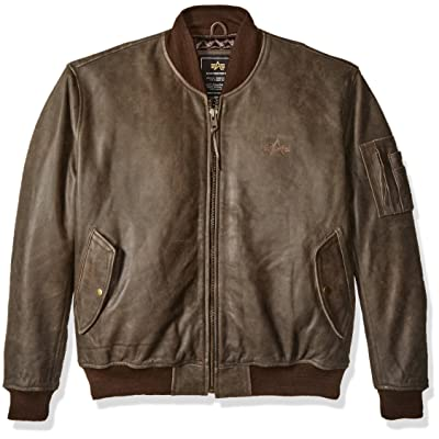 Alpha Industries Men's Alpha MA-1 Leather