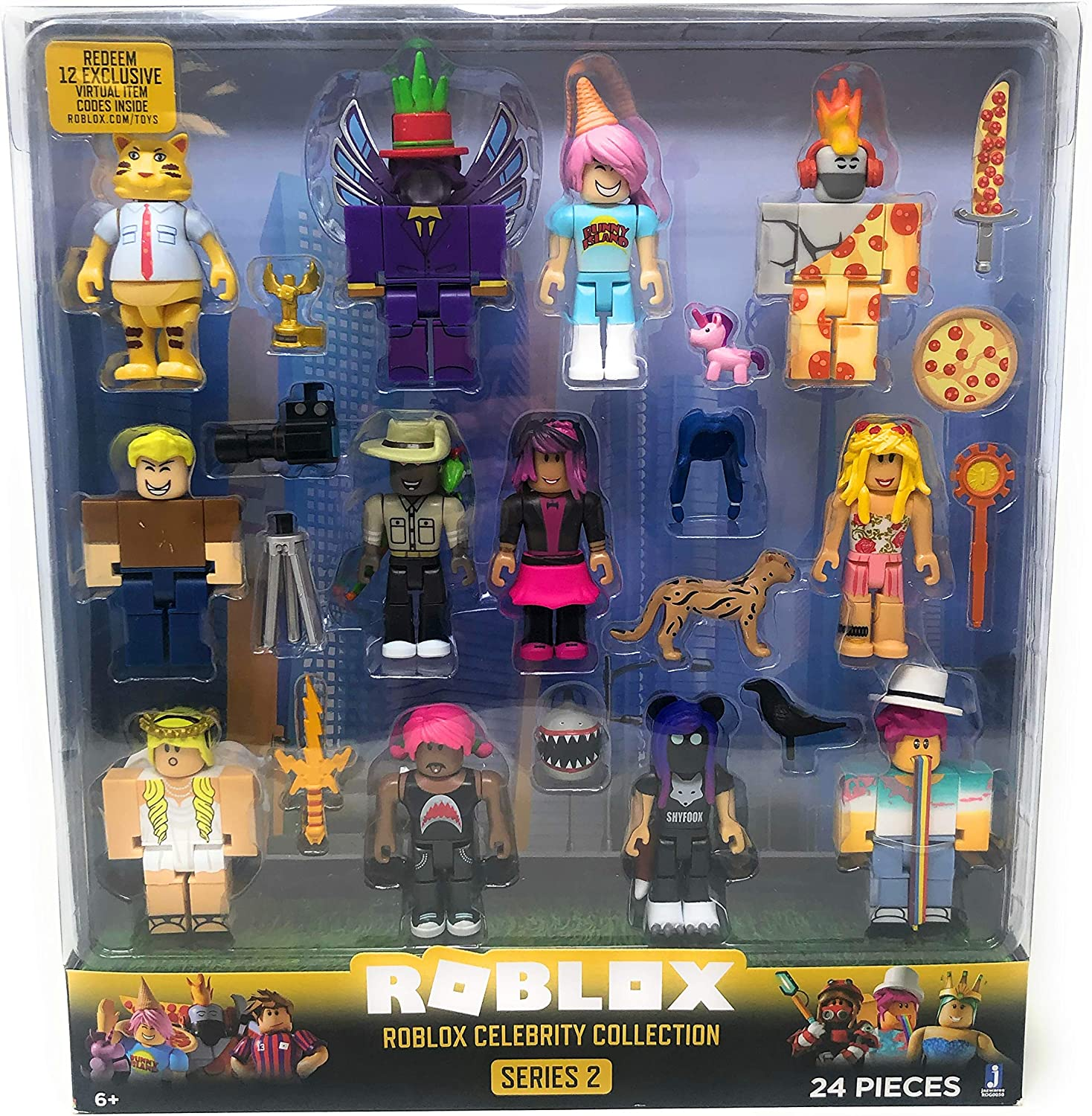 Action Figures Roblox Celebrity Gold Series 2 Mystery Figures Blue Amazon Com Roblox Series 2 Roblox Celebrity Collection 24 Piece Set Toys Games