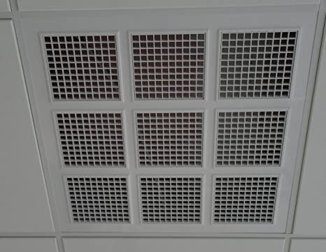 Ceiling Grill LARGE 595 X 595 vent grill  Plastic white, fits suspended  ceiling(RX)