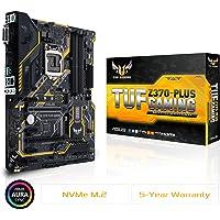 Asus TUF Z370 Plus Gaming Motherboard, ATX, Socket LGA 1151, Chipset Z370, DDR4, HDMI, DVI, M.2, LAN, USB 3.1