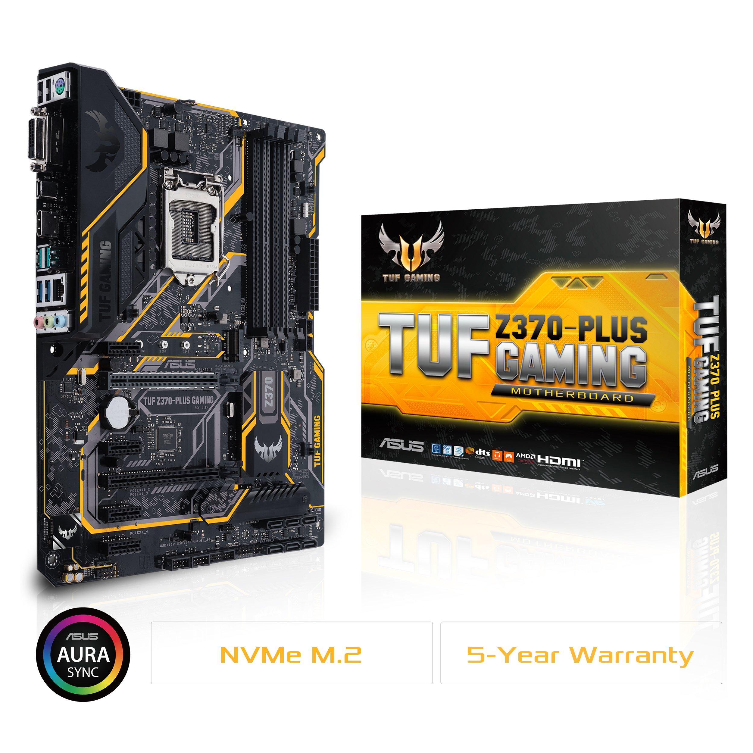Asus Tuf Z370 Plus Gaming Lga1151 Ddr4 Hdmi Dvi M.2 Z370 ...