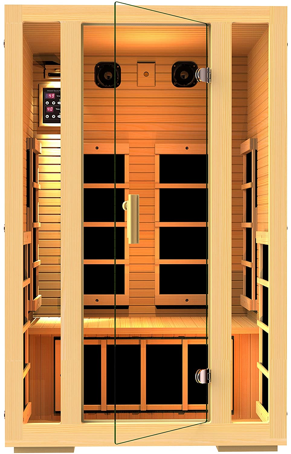 Amazon JNH Lifestyles 2 Person Far Infrared Sauna 7 Carbon Fiber Heaters Garden Outdoor
