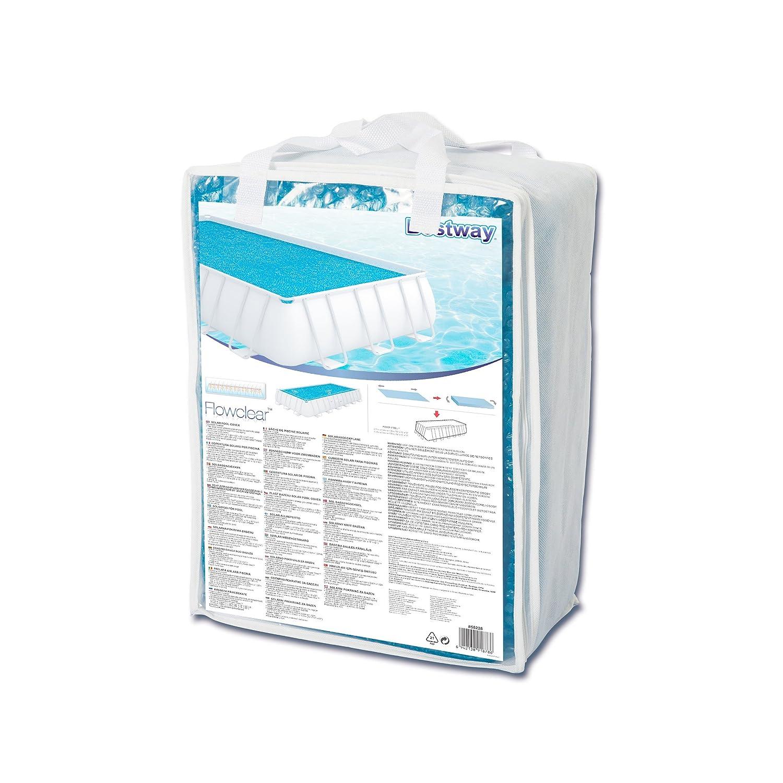 Bestway 58228 - Cobertor solar Manta Térmica para piscinas rectangulares, 687 x 336 cm: Amazon.es: Jardín