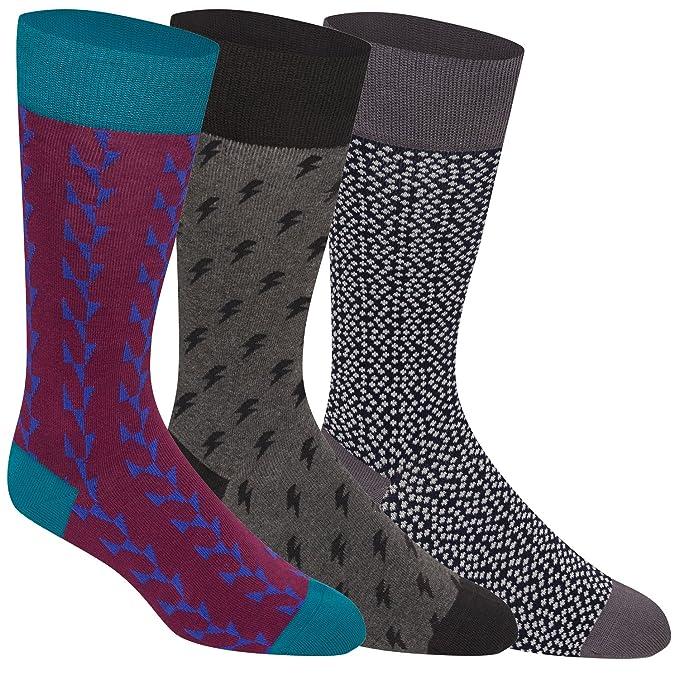 3 pares de brovado para hombre calcetines, calcetines, calcetines de moda para hombres: Amazon.es: Ropa y accesorios