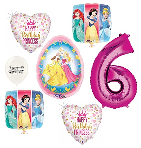 Image Unavailable Not Available For Color Disney Princess Happy 6th Birthday Party Balloons Bundle
